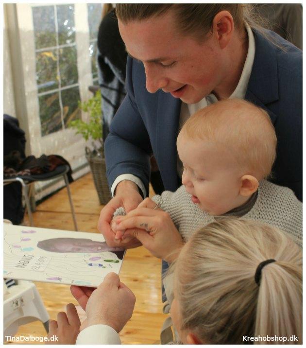 indslag og ide til en fest hvor gæster sætter fingeraftryk med stempelfarve - materialer fra kreahobshop