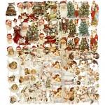 Glansbilleder , ark 16,5x23,5 cm, Jul, 30ass. ark