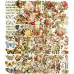 Glansbilleder , ark 16,5x23,5 cm, Helårs, 30ass. ark
