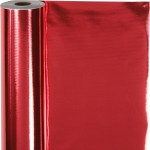 Gavepapir, B: 50 cm, 65 g, rød, 100m