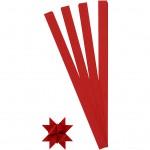 Stjernestrimler, B: 15 mm, dia. 6,5 cm, rød, 100stk.