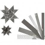 Stjernestrimler, B: 15+25 mm, dia. 6,5+11,5 cm, Paris, 48stk.