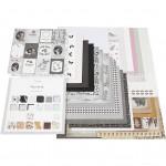 Designpapir i blok, str. 30,5x30,5 cm, 50 sider, Paris , Skagen,  Oslo, 50ark