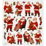 Fancy stickers , ark 15x16,5 cm, klassiske julemænd, 1ark