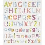 Fancy stickers , ark 15x16,5 cm, alfabet, 1ark