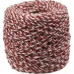 Naturhamp, tykkelse 1-2 mm, rød/hvid, 150m