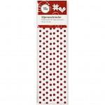 Stjernestrimler, B:  15 mm, dia. 6,5 cm, rød/hvid, 28stk.