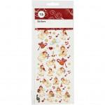 Stickers, ark 22,5x10 cm, engle, 1ark