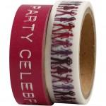 Masking Tape, B: 15 mm, pink, 2x5m