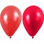 Balloner, dia. 23 cm, rød, 10stk.