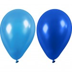 Balloner, dia. 23 cm, blå, 10stk.