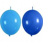 Balloner, blå, lys blå, kædeballoner, 8stk.