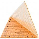 Foldbar lineal, str. 20,3x20,3 cm, transparent, 1stk.