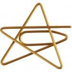 Klips, stjerne, str. 30x30 mm, guld, 6stk.