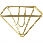 Klips, diamant, B: 35 mm, H: 25 mm, guld, 6stk.