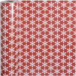Gavepapir, B: 50 cm, 80 g, Rød kollektion, Iskrystaller, 100m