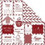 Designpapir, ark 30,5x30,5 cm, 180 g, Rød kollektion, 5ark