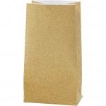 Papirsposer, H: 17 cm, str. 6x9 cm, guld, 8stk., 80 g
