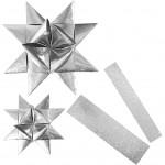 Stjernestrimler, B: 25+40 mm, diam. 11,5+18,5 cm, Lys kollektion, outdoor, 16stk.
