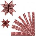 Stjernestrimler, B: 15+25 mm, diam. 6,5+11,5 cm, Rød kollektion, classic, 60stk.