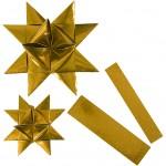 Stjernestrimler, B: 25+40 mm, diam. 11,5+18,5 cm, guld, outdoor, 16stk.