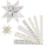 Stjernestrimler, B: 15+25 mm, diam. 6,5+11,5 cm, metalfolie, 48stk.