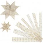 Stjernestrimler, B: 15+25 mm, diam. 6,5+11,5 cm, Lys kollektion, vellum, 48stk.