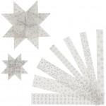 Stjernestrimler, B: 15+25 mm, diam. 6,5+11,5 cm, Sort kollektion, vellum, 48stk.