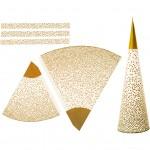 Kræmmerhuse , H: 18+28 cm, guld, Lys kollektion, 3stk.