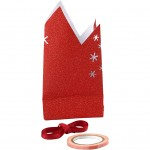Stjerne af papirsposer, rød, 1stk.