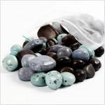 Keramikperler, str. 6-18 mm, hulstr. 1-1,5 mm, turkis, grå, sort, 500g