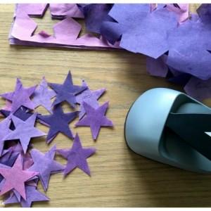 inspiration til bordkort stjerner lilla kreashop