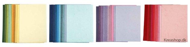 silkepapir i flotte nuancer