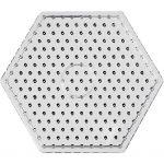 Perleplade, str. 17 cm, transparent, JUMBO - hexagon, 5stk.