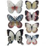 3D Stickers, str. 26-48 mm, ass. farver, sommerfugl, 7stk.