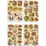 3D Motiver, ark 21x30 cm, julemænd og bamser, 4ark