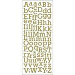 Glitterstickers, ark 10x24 cm, guld, bogstaver, 1ark