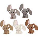 Figurknapper, B: 28 mm, H: 28 mm, kaniner, 5stk.