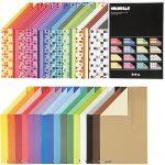 Color Bar rivekarton, A4 210x297 mm, 250 g, ass. farver, 32x10ark