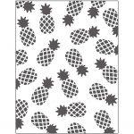 Prægeskabelon, str. 11x14 cm, tykkelse 2 mm, ananas, 1stk.