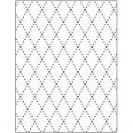 Prægeskabelon, str. 11x14 cm, tykkelse 2 mm, rhombus, 1stk.