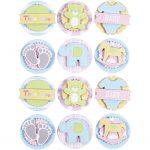 3D Stickers, diam. 35 mm, tykkelse 5 mm, baby, 1ark