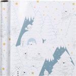 Gavepapir, B: 57 cm, 80 g, polar jul, 150m