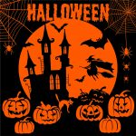 Servietter, str. 33x33 cm, Halloween nat, 20stk.