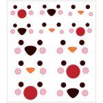 Stickers, ark 15x16,5 cm, ca. 60 stk., polardyrsøjne, 1ark