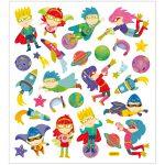 Stickers, ark 15x16,5 cm, ca. 28 stk., superhelte, 1ark