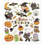 Stickers, ark 15x16,5 cm, ca. 32 stk., halloween motiver, 1ark
