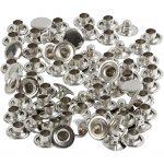 Nitte, diam. 7 mm, sølv, 50stk.