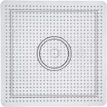 Perleplade , str. 14,5x14,5 cm, transparent, stor kvadrat, 1stk.