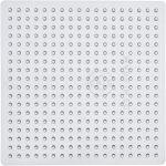 Perleplade , str. 7x7 cm, transparent, lille kvadrat, 1stk.